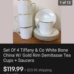 """Tiffany and company""tea Cups set"
